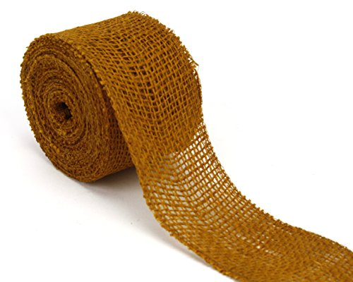 Kel-Toy Jute Burlap Ribbon, 2.5-Inch by 10-Yard, Cumin