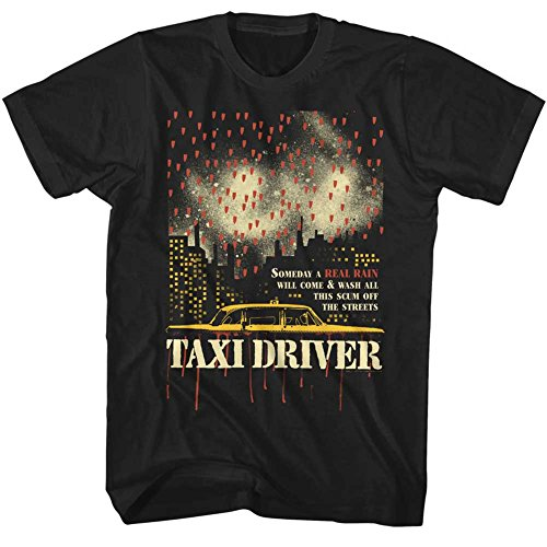 American Classics Taxi Driver 1976 Crime Drama Movie Real Rain Wash Scum Adult T-Shirt ()