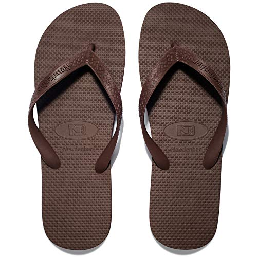 Brown Rubber Thong - NewDenBer NDB Men's Classical Comfortable EVA Rubber Sandal Flip Flop (Men 8 M US, Brown)