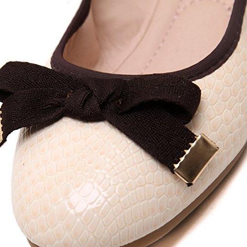 Sin salón Decorado cordones Albaricoque Lazo De Mujer Sólido AgooLar con XEw0qTT