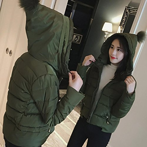 WINWINTOM Grueso más Vivo Casual Moda Grueso Abrigo Chaqueta Down Verde corto Invierno Mujer Lammy Slim Abrigo Outwear 1rqxOqw