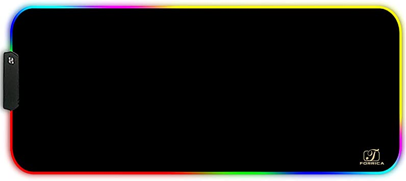Forrica Rgb Gaming Mauspads 900x400x3 Mm Xxl Große Mousepad Fransenfreie Ränder Wasserdicht Tischunterlage Matte Office Rutschfest Gaming Mousepad Schwarz Bürobedarf Schreibwaren