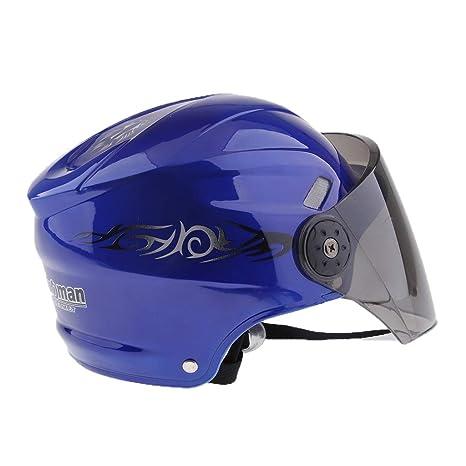 Homyl 1 Unid Casco con Visor de Seguridad Accesorio de Equitación Duradero Unisexo - Azul