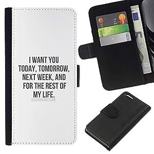 KingStore / Leather Etui en cuir / Apple Iphone 5C / Vous aimez la vie My Sweetheart miel