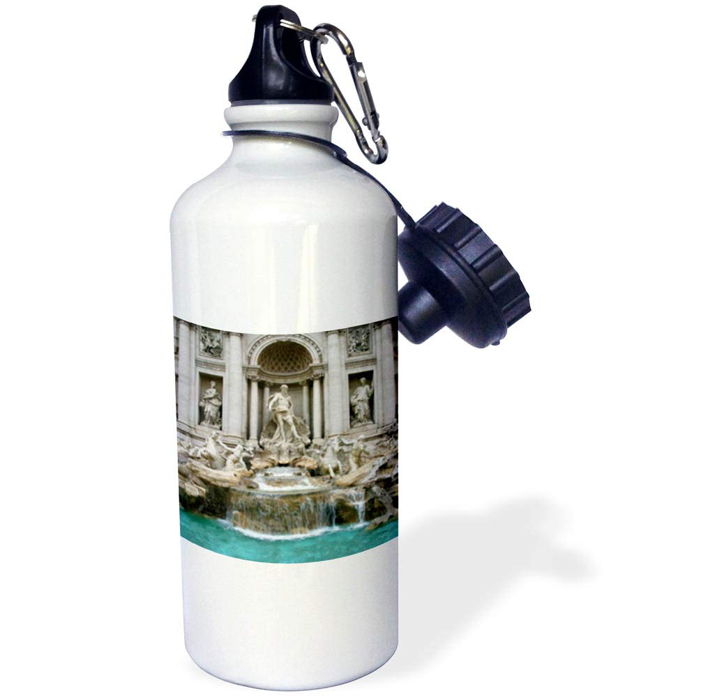 3dRose Elysium Photography - Architecture - Trevi Fountain, Rome, Italy - 21 oz Sports Water Bottle (wb_289636_1)