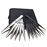 Avias Knife Supply 12 Piece Tactical Metal Throwing Knife...