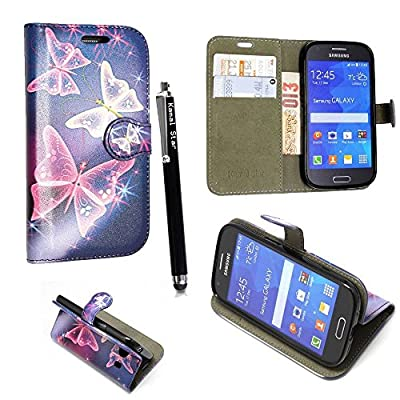Amazon.com: Vodafone Smart Turbo 7 VFD500 Case, Kamal Star PU Leather Magnetic Flip Vodafone Smart Turbo 7 VFD500 Case Cover + Stylus (Butterfly Blue Book): ...