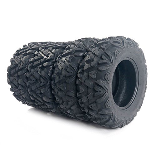 Set of 4 Mud Terrain ATV Tires 25x8-12 & 25x10-12 6PLY Front&Rear Spare Tire Replacement