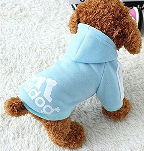 Image of Idepet Soft Cotton Adidog Cloth for Dog, M, Blue