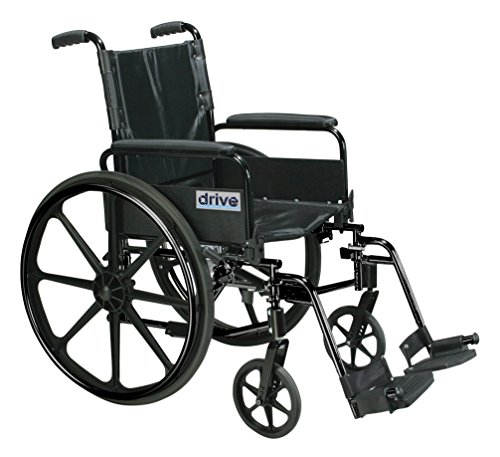 Drive Medical C420ADFASV-SF Cirrus Iv Lightweight Dual Axle Wheelchair With Adjustable Arms, Silver Vein