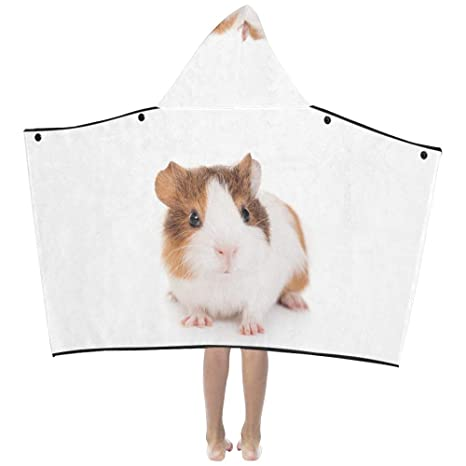 Kawaii Linda familia de conejillos de Indias Suave y cálido Algodón mezclado Los niños se visten con capucha Manta Toallas de baño Abrigo de tiro niños ...