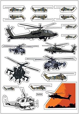 Tabla de skate, diseño de helicóptero, pegatinas, vinilo adhesivo-A94 manualidades: Amazon.es: Hogar