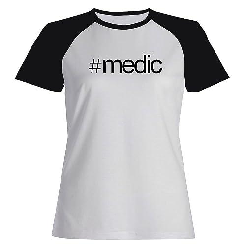 Idakoos Hashtag Medic - Ocupazioni - Maglietta Raglan Donna