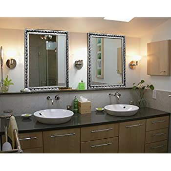 Decorative Large Wall Mounted Mirror With Baroque Style Wooden Frame For  Bathroom Living Room (Baroque