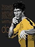 """Knowing is not Enough'…Bruce Lee Motivational Quote Poster Print 12 x 18 inch (Rolled)"