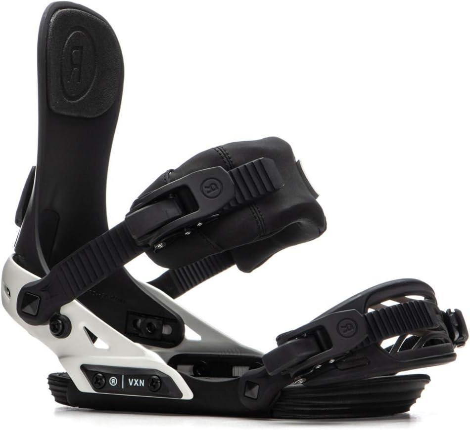 Ride VXN Snowboard Bindings Black//Off White, Medium Womens