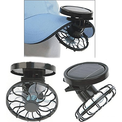 Carejoy Portable solar fan, compact and stylish energy saving and environmental protection can be clip-type solar fan