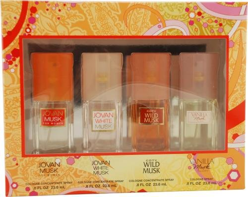 Womens Omni Variety by Coty for Women. Set-4 Piece Variety With Jovan Musk & Jovan White Musk & Coty Wild Musk & Vanilla Musk And All Are Cologne Conc