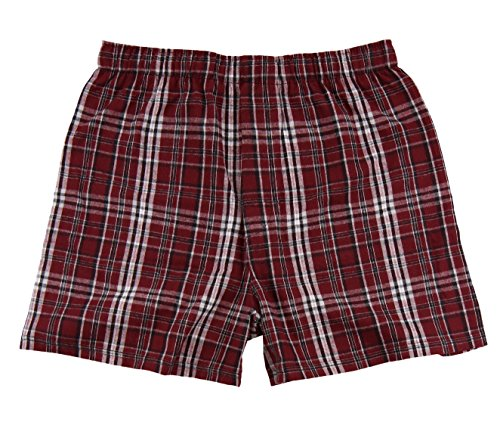 Boxercraft Adult Classic Flannel Boxers (Medium, Garnet and - Shorts Flannel Boxer