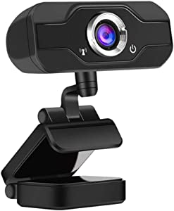 Muhoop 1080P HD Webcam with Microphone Fold-and-Go Design, Webcam Streaming Computer Web Camera USB 2.0 Computer Camera for PC Laptop Desktop Video Calling,Conferencing,Gaming with Rotatable Clip