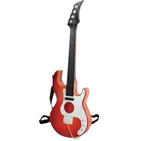 Foxom Guitarra Niños Infantil Guitarra con púas - Instrumento Musical Juguetes para Niño y Niña de