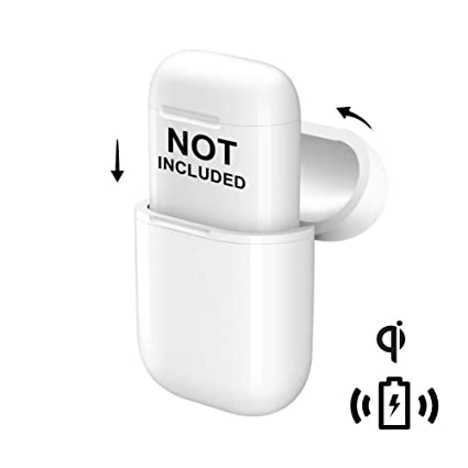 f79f84aadd1 Amazon.com: NeotrixQI Wireless Charging Protective Case Cover Compatible  for Apple AirPods and Any Qi Wireless Charger - White: Electronics