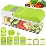 Vegetable Chopper Slicer, Food Chopper MOICO Onion Dicer Veggie Slicer Cutter With Multi-Functional Interchangeable...