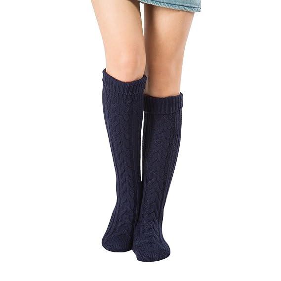 1Pair Sobre la rodilla Medias Tejido de punto Calcetines, Mujer Rodilla Calcetines De punto Sobre la rodilla Medias Invierno Calentar Largo Calcetines 8 ...