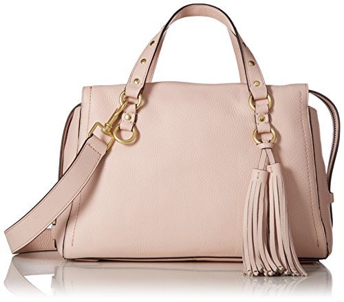 Cole Haan Cassidy Zip Satchel Leather Bag, peach blush Cole Haan Handbag Purse