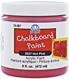 FolkArt 2537 8-Ounce Chalkboard Paint, Hot Pink