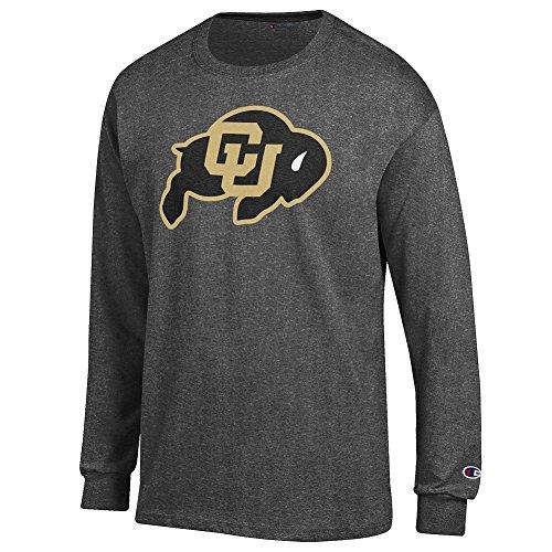 Elite Fan Shop Colorado Buffaloes Long Sleeve Tshirt Varsity Charcoal - L