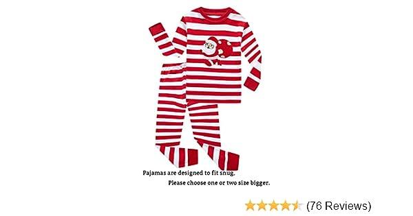 amazoncom if pajamas christmas tree little boy girl pjs long sleeve kid sets clothing