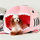 Pesp Shark Round House Bed for Pet Small Cat Dog Cave Bed with Bed Mat Removable Cushion Waterproof Bottom Most Lovely House Gift for Pet Review