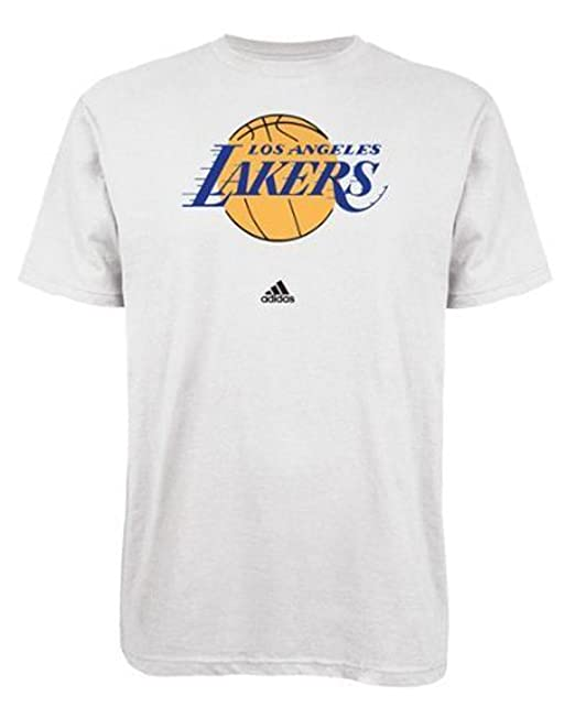 Amazon.com   Los Angeles Lakers White Primary Logo T-Shirt 2X-Large ... c603ac724