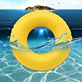 LUCKSTAR Swim Ring - PVC Thickened Floating Swimming Ring Inflatable Ring Swim Tube Summer Fun Swim Trainer for Kids & Adults (M)
