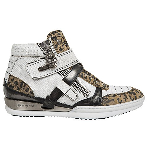 Hybrid HY032 S18 Shoes Black White Women's Rock M Leather New Fq0EwE