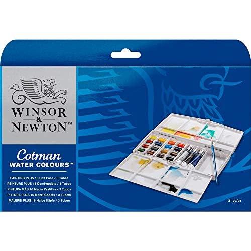 chollos oferta descuentos barato Winsor Newton Caja plástica de 16 medio Godets y 3 tubos