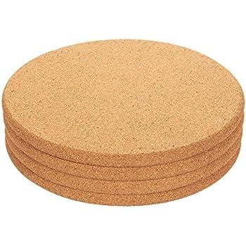 4-Pack Cork Trivet Set - Round Corkboard Placemats Kitchen Hot Pads for Hot  Pots