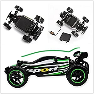 SZJJX RC Cars Crawler Truck 2.4Ghz High Speed Rock Off-Road Vehicle 1:20 2WD Radio Remote Control Racing Cars Electric Fast Race Buggy Hobby Car SJ211 Green