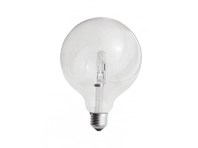Lampade A Globo A Risparmio Energetico : Lampada alogena maxi sfera globo mm basso consumo w w