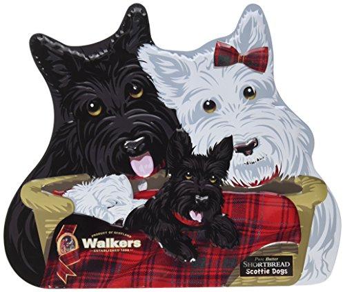 Walkers Shortbread Scottie Dog Family Keepsake Tin, 12.3 - Shortbread Tin