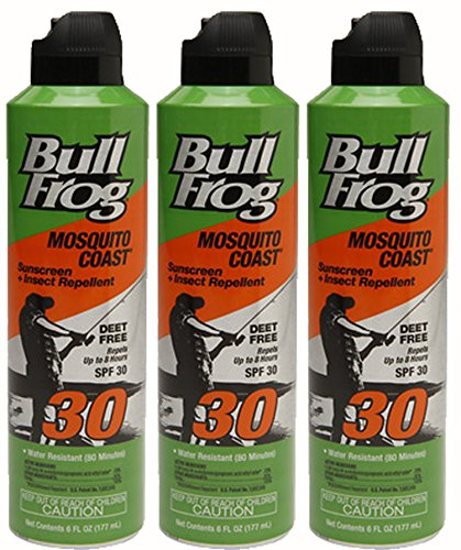 Bull Frog Mosquito Coast Spray Sunscreen With Insect Repellent  6 Ounce   Pack Of 3