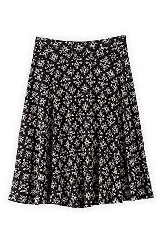 Trade Fashion Fair (Fair Indigo Fair Trade Organic Full Skirt (M, Black Medallion))