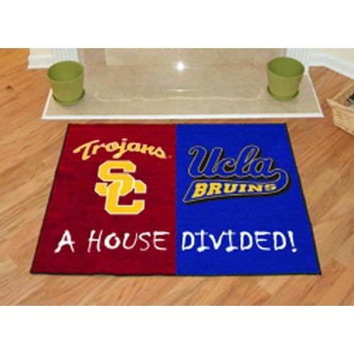 USC - UCLA All-Star House Divided - Rug Ucla