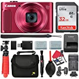 Canon PowerShot SX620 HS Digital Camera (Red) 25x Optical Zoom + 32GB SD + Spare Battery + Complete Accessory Bundle