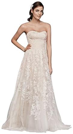 57f95e74 Melissa Sweet Lace A-Line Wedding Dress Style MS251174 at Amazon ...