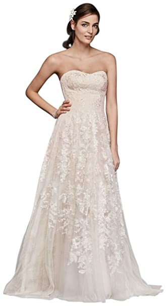 Melissa Sweet Lace A Line Wedding Dress Style Ms251174 At