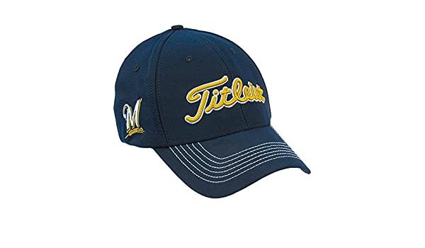 c55d404cbb25d ... get amazon titleist mlb milwaukee brewers fitted cap m l clothing 31055  a029d