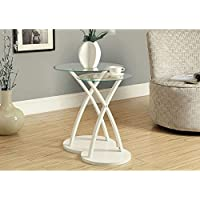 Monarch Bentwood 2-Piece Nesting Table Set, Large, White