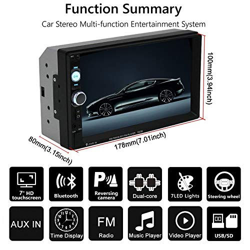Buy double din bluetooth backup camera